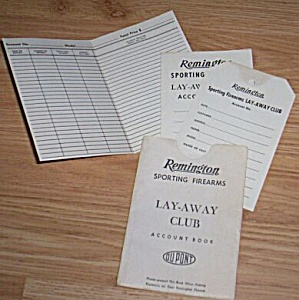 Vintage Dupont Remington Lay-A-Way Club Book (Image1)