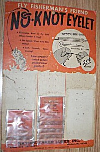 Vintage No-Knots Eyelet Lure Display Card (Image1)