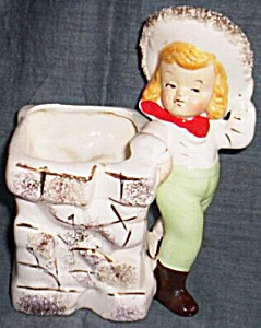 Vintage Cowgirl Flower Pot