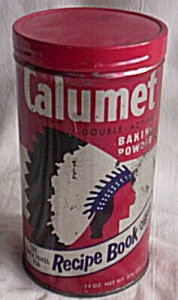 Vintage Calumet Metal Backing Powder Can (Image1)