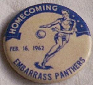1962 Embarrass MN Panthers Homecoming Pin (Image1)