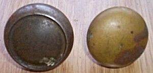 2 Old Brass Door Knobs (Image1)