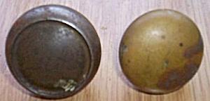 2 Old Brass Door Knobs (Image1)