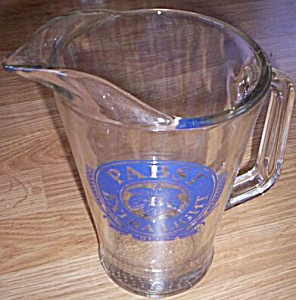 Vintage Glass Pabst Beer Pitcher