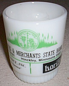 Fire King Hinckley Minnesota Advertising Mug