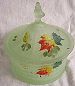 Green Satin Glass Covered Candy (Image1)