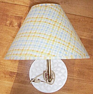 Vintage Wall Mount Bed Lamp Quilted (Image1)