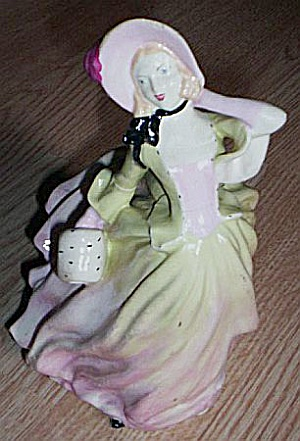 Lovely Chalkware Lady Period Dress