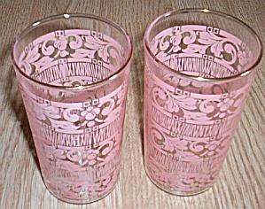Pair Pink Swanky Swigs Enameled Pink (Image1)