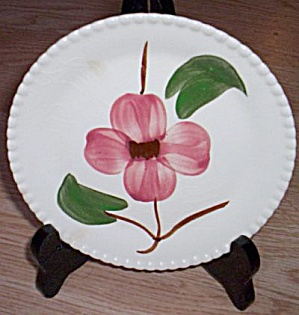 Blue Ridge Bread and Butter Plate Twin Flowers (Image1)