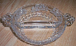 Fostoria 2 Section Relish Etched Floral (Image1)