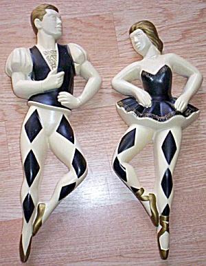 1962 Miller Studio Plaster/Chalkware Jester Dancers (Image1)