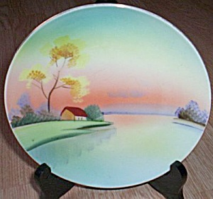 Meito China Hand Painted Porcelain Plate Water