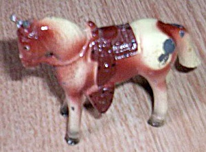 Vintage Pot Metal Painted Horse Figurine (Image1)