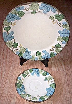 Metlox Poppy Trail Sculptured Grape Dinner Plate Saucer