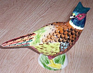 Rare Pheasant Hor dourve Toothpick Holder (Image1)