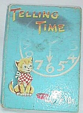 1949 Tiny Tale Telling Time Child's Book