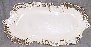 Antique Dithridge Vanity Tray Scroll And Fan