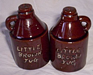 Red Clay Mini Brown Jug Salt Pepper (Image1)