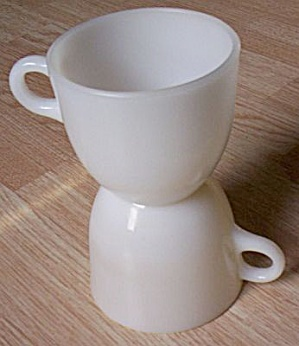 2 Fire King St. Dennis Ivory Cups (Image1)