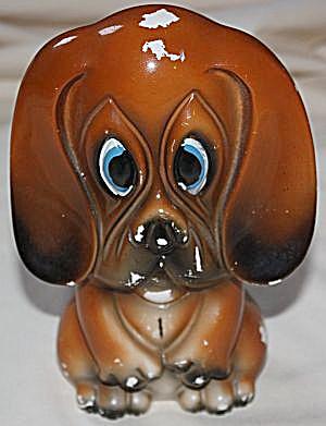 Vintage Big Eyed Basset Hound Figurine (Image1)