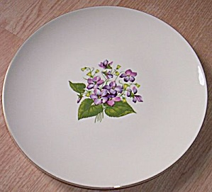 1952 Knowles Dinner Plate Wood Violets (Image1)