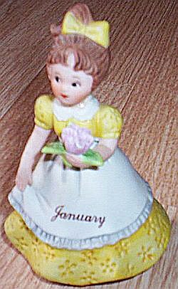 Lefton January Flower Girl #02043 free shipping (Image1)