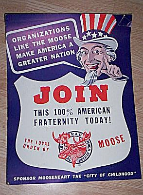 1940�s Moose Club Recruiting Poster (Image1)