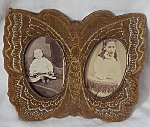 Antique Butterfly Picture Frame