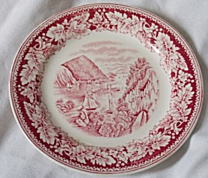 2 Laughlin Currier and Ives Bread Butter Plates (Image1)