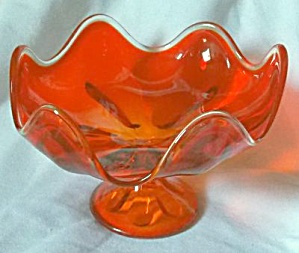 Viking Epic 6 Petal Persimmon Round Compote
