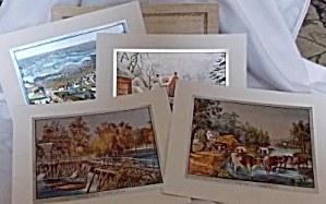 4 Currier and Ives Foil Prints (Image1)