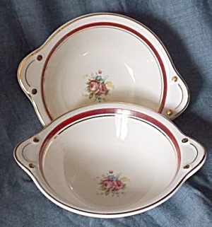 2 Ts&t Handled Soup Bowl Pattern 1599