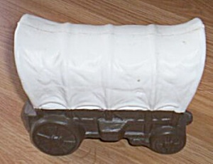 Vintage Covered Wagon Plastic Still Bank (Image1)