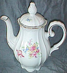US Zone German Porcelain Coffee Server Floral Decal (Image1)