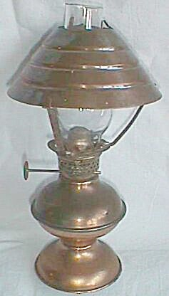 Vintage Hilco Copper Miniature Oil Lamp W/ Shade