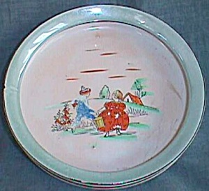 Old Hand Painted Luster Child's Bowl Jack And Jill