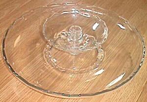 Stunning Epergne Style Serving Tray Fostoria  (Image1)