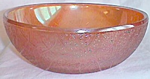 Imperial Carnival Glass Bowl Crackle Marigold