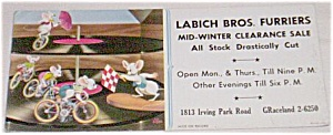 Labich Furriers Ink Blotter Mice on Record Free Shipping (Image1)