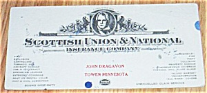 Scottish Union & National Insurance Co Ink  Blotter MN Free Shipping (Image1)