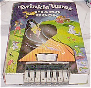 Antique Child's Piano Twinkle Tunes Piano Book Free Shipping (Image1)