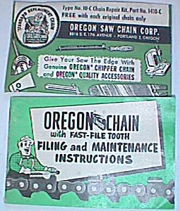 1954 Oregon Saw Chain Corp. Repair Kit Booklet (Image1)