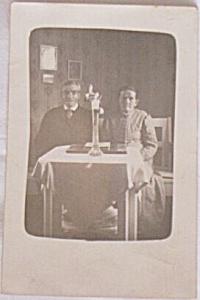 Antique Photo Postcard? Elderly Couple Seated (Image1)