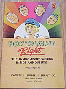 1950's Dutch Boy How to Paint Guide Book (Image1)