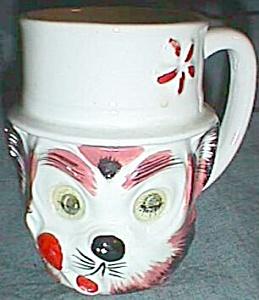 Unusual Child's Mug Cat Face Holographic Sleepy Eyes (Image1)