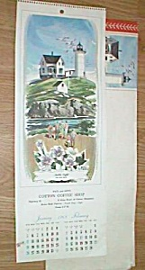 1969 Cotton MN Coffee Shop Pictorial Calendar Near Mint Free Shipping (Image1)
