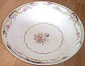 Stetson Serving Bowl Floral Rim and Center (Image1)