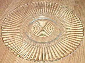 MacBeth-Evans Petalware Plate Torte Clear (Image1)