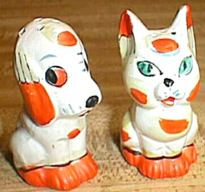 Patchwork Cat And Dog Shakers